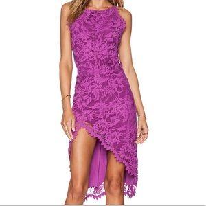 Mahi Waui Slit Dress in Purple Orchid